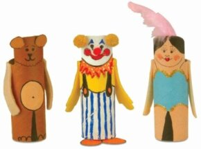 It's showtime for these Circus Act Finger Puppets!