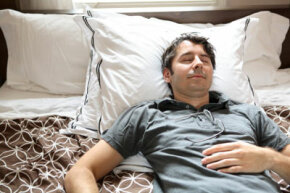 People with paroxysmal nocturnal dyspnea wake up suddenly, gasping for air and coughing.