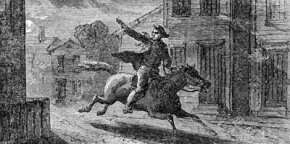Paul Revere on the Midnight Ride.