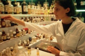 A perfumer tests new fragrance combinations at la parfumerie Molinard in Grasse, France.