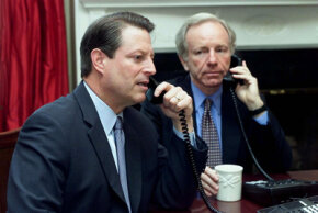 Former Vice President Al Gore (above) would need more security for his conference calls -- it's necessary to encrypt them.