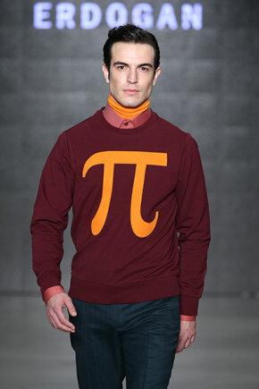 model in pi sweater