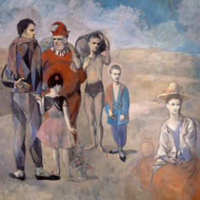 """Picasso's work """"Family of Saltimbanques"""" was done in 1905."""
