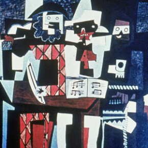 """Three Musicians,"" a 1921 painting by Pablo Picasso, was done in the Cubist style"