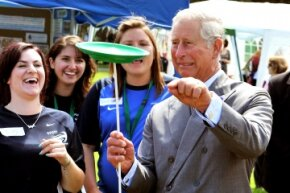 Looks like Prince Charles isn't going to pursue a side career in the circus arts anytime soon.