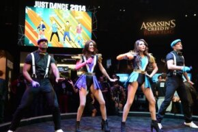 """""""Just Dance 2014,"""" shown here at an E3 demo in Los Angeles, Calif., is one of the titles that takes advantage of the PlayStation Camera's capabilities."""