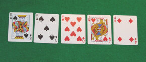 "This hand has nothing. If the player were to take this hand all the way to the showdown without folding, the hand would be called ""King High."""