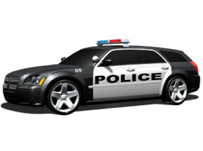 The Hemi engine is standard issue in the Dodge Magnum police car package that debuted in September 2005 for the 2006 model year.