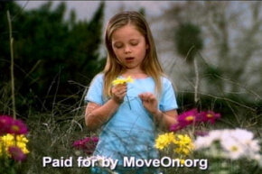 """In 2003, political action group MoveOn.org re-imagined the iconic 1964 """"daisy ad"""" that helped win President Lyndon Johnson re-election."""
