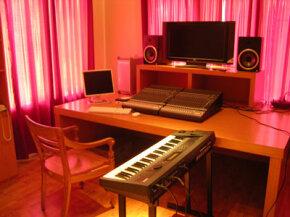 A simple portable recording studio.