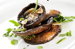 Portobello mushrooms are excellent both baked and prepared on the grill.