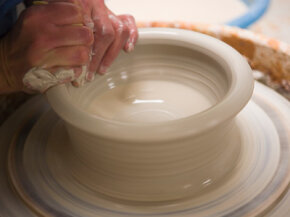 The pottery wheel is where all the magic happens.