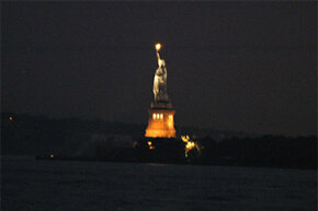 The Statue of Liberty was one of the few structures not affected by the enormous blackout of 2003 that crippled New York City and nearby regions.
