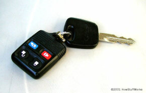 Key fobs such as this one activate the power door lock mechanism. See more pictures of car gadgets.
