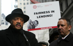 Debt Image Gallery The Rev. Jesse Jackson and National Urban League President and CEO Mark Morial rally for mortgage reform. Predatory lenders target first-time homebuyers with poor credit, who are often minorities and the elderly. See more debt pictures.