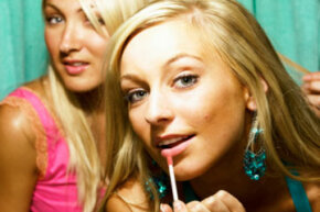 Careful with that lip gloss. Does it contain alcohol?
