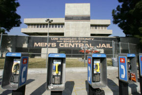 A long distance collect call from within prison walls can cost dramatically more than one made at these pay phones outside the prison.