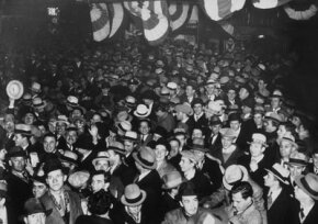 People in New York celebrate the ratification of the 21st Amendment ending Prohibition, Dec. 5, 1933