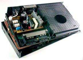 The 4.7-GB DVD drive gives PlayStation 2 games a larger capacity than original PlayStation games.