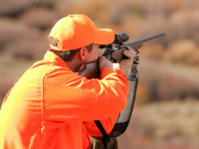 Hunter taking aim.