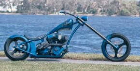 Punisher is a custom chopper that forgos chrome detailing, creating a look like no other.