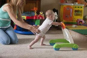 Experts say that push toys teach essential skills to babies learning to walk.