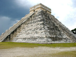 A Mayan pyramid at Chichen Itza, Mexico.­ See more pictures of pyramids.