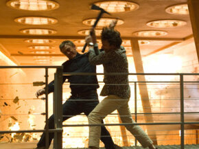 """Daniel Craig and Mathieu Almaric compete in a fight scene for """"Quantum of Solace."""""""
