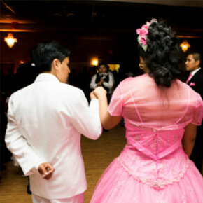 By tradition, a quince girl must have an escort.