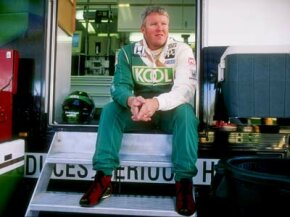 High-end race car trailers like Paul Tracy's often have side entrances.