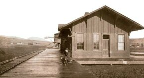 Railroad stations were often the outposts of civilization. For isolated people, the station meant contact with the rest of the country by telegraph, and trains meant the freedom to come and go-even if it was a long wait.