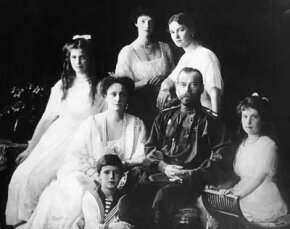 Tsar Nicholas II and the Romanov family.