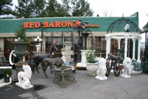 The exterior of Red Baron's Antiques