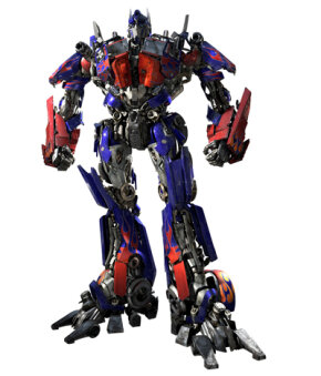 """Optimus Prime in biped form, from """"The Transformers"""" movie. See more pictures of robots."""