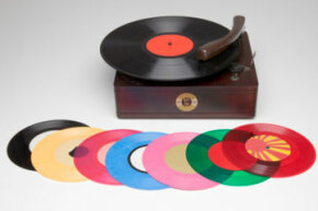 Even though records now come in an array of candy colors, the production process for pressing records hasn't changed much through the years.