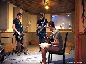 .nicofiends. recording at Osceola Recording Studios.
