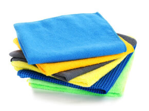 There's no need to buy new cleaning cloths when you can make them from old clothes.
