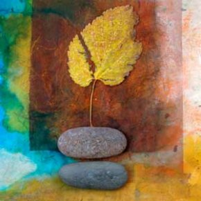 Let Mother Nature inspire you -- create a collage using natural items such as leaves, stones and twigs.