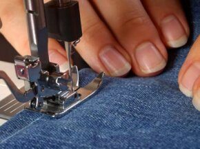 Denim can be recycled to make a variety of creative crafts.