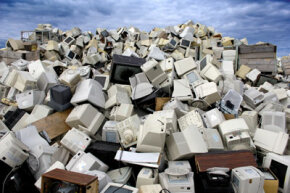 Do you need to send your old TV to the recycling pile, like this one in Norway? Not unless it's actually broken.