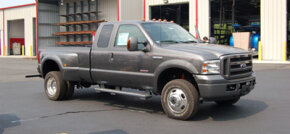 This ordinary looking pickup truck is really a heavy-duty stealth repo truck.