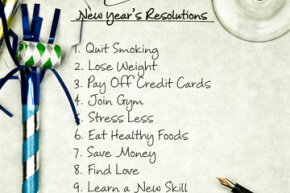 New Year's resolution list