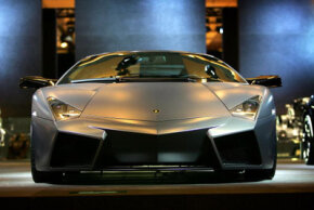 Image Gallery: Lamborghinis Lamborghini claims that the Reventon is the most powerful -- and the most expensive -- model it's made yet. See more pictures of Lamborghinis.