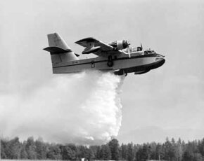 The Canadair CL-215 Water Bomber was the first water bomber specifically designed to fight forest fires. Previous planes filling the role had been retrofitted bombers or transport craft.