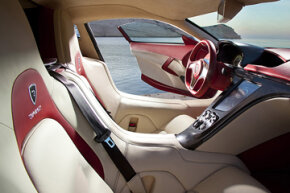Rimac assembled a team of former Pininfarina employees to design the cabin -- the result is a leather-draped, driver-centric cockpit.