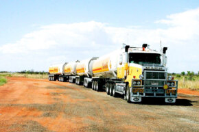 Australian Outback road trains can reach lengths of up to 175 feet (53.5 meters) -- or even longer, if they're driven on private roads.