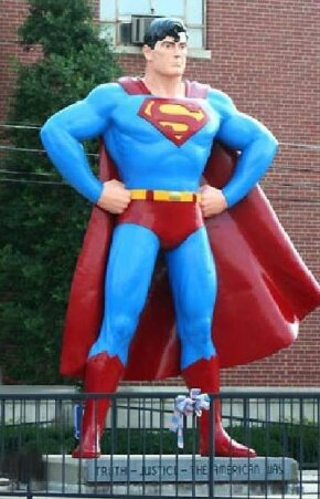 This Superman statue was erected by Metropolis, Illinois to capitalize on the superhero's popularity.