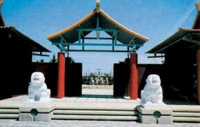 The Forbidden Gardens in Katy, Texas, offers a glimpse into Chinese history, including a model of Emperor Qins tomb.