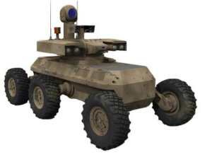 The proposed MULE Unmanned Ground Vehicle will be able to carry weapons like missile launchers or machine guns.