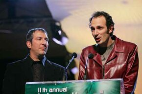 Eran Egozy, Harmonix co-founder and vice president, and Greg LoPiccolo, vice president of product development.